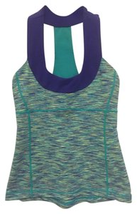 Lululemon Lululemon Blue & Purple Wee Are From Space Scoop Neck Tank Top Size 4