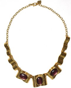Other Renaissance 24-kt Gold-Plated Pewter Wavy Statement Necklace