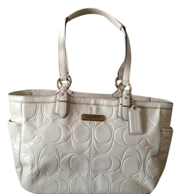 Item - Gallery White Patent Leather Tote
