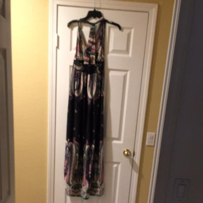 Blue, Pink, White, Green, And Purple Maxi Dress by Forever 21