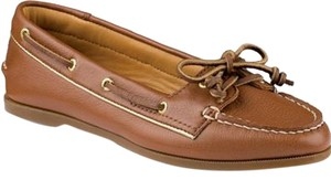 Sperry Brown Boat Gold Slip-on Style Brown/Gold Flats