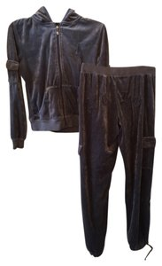 BCBGMAXAZRIA Jumpsuit Velour Soft Zip Sweatshirt