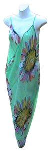 Other Green Floral Chiffon Wrap Around Cover (#18)