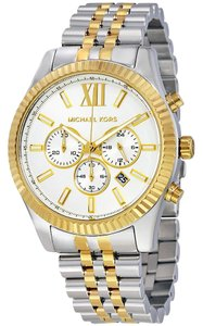 Michael Kors NWOT MICHAEL KORS Chronograph Lexington Two-Tone Watch MK8344