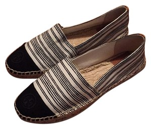 Tory Burch Black and ivory Flats