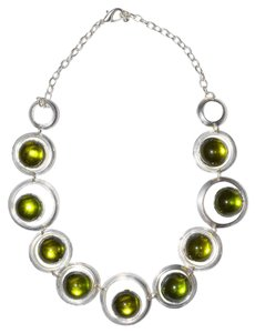 Pewter Resin Bauble Statement Collared Necklace
