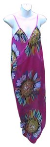 Other Fuschia Floral Chiffon Wrap Around Cover (#21)