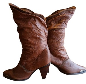 Zodiac Leather Western Vintage Brown Boots