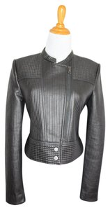 BCBGMAXAZRIA Bcbg Moto Biker Leather Coat Leather Jacket