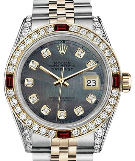 Preload https://img-static.tradesy.com/item/17169523/rolex-women-s-steel-and-gold-31mm-datejust-black-mop-dial-ruby-and-diamond-watch-0-1-540-540.jpg
