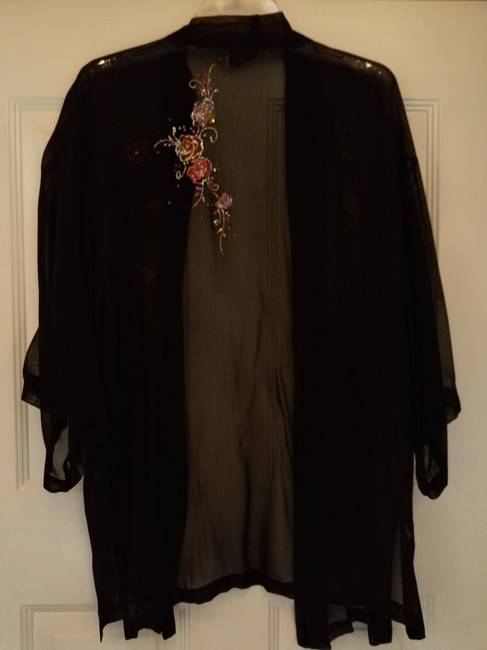 Jan's Boutique Dressy Sheer Black Blazer Image 3