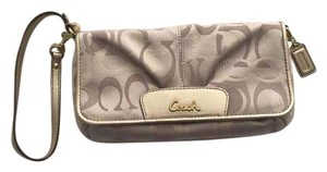 Coach Wristlet in Nude/Gold
