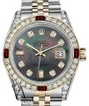 Rolex Ladies Rolex Steel & Gold 26mm Datejust MOP 8+2 Dial Ruby Diamond Image 0