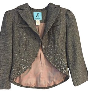 Marciano Brown and Metallic Sparkle Blazer