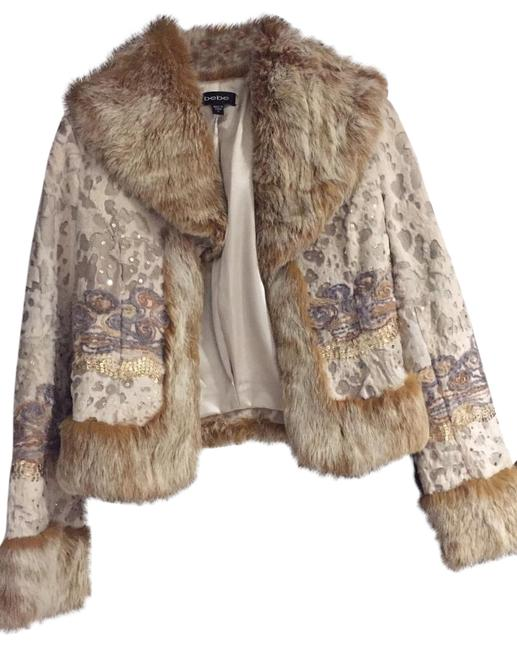 Item - Brown Multi Color Embroidery Coat Size 4 (S)