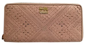 Coach Madison Criss Cross Leather Zippy Wallet in Blush (Pink) 47947