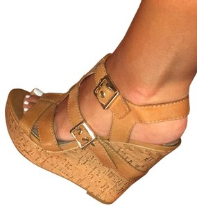 BCBGeneration Tan Wedges
