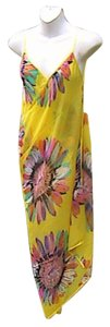 Other Yellow Floral Chiffon Wrap Around Cover (#27)