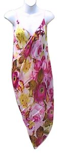 Other Pink Floral Chiffon Wrap Around Cover (#28)