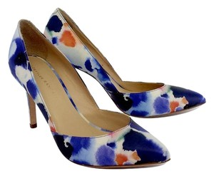 Loeffler Randall Abstract Print Leather Pumps