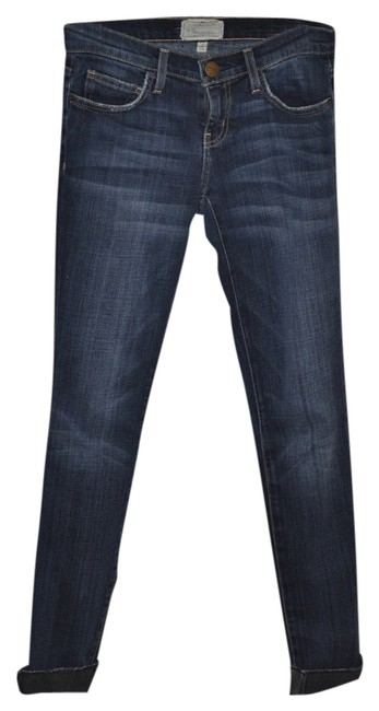 Item - Black Loved Medium Wash The Rolled Skinny Jeans Size 24 (0, XS)
