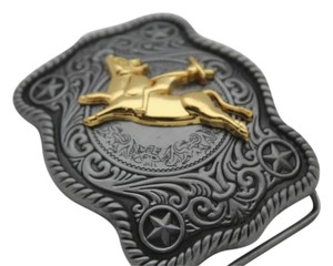 Alwaystyle4you New Men Women Antique Silver Western Rodeo Gold Bull Rider Belt Buckle
