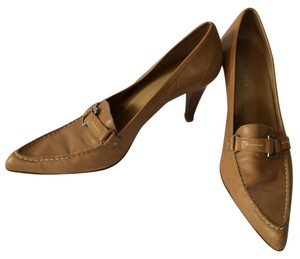 Franco Sarto Leather Loafer Brown Pumps