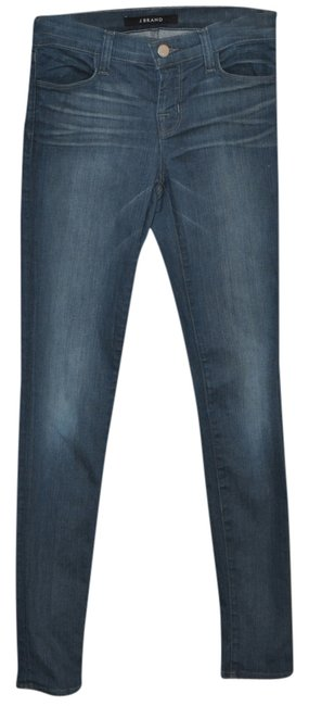 J Brand Acid Wash Super Skinny Skinny Jeans-Medium Wash