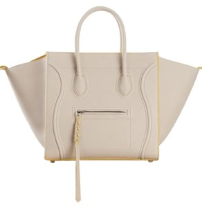 Céline Tote in Chalk/Yellow