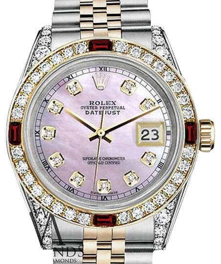 Preload https://img-static.tradesy.com/item/17171413/rolex-women-s-stainless-steel-and-gold-31mm-pink-mop-dial-ruby-diamond-watch-0-1-540-540.jpg