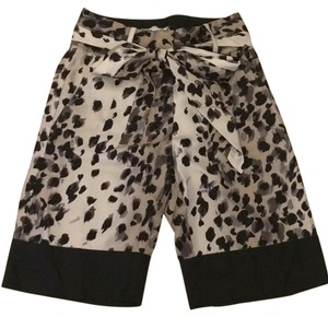 Chris Benz Silk Print Sateen Classic Dress Shorts Black