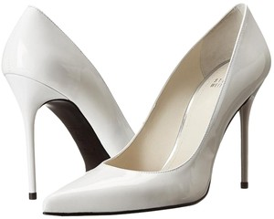 Stuart Weitzman Patent Leather White Pumps