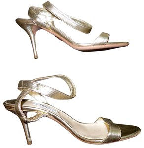 Prada Strappy Heels Gold Pumps