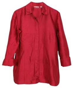 Chico's Silk Top red