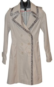 Via Spiga Snake Print Animal Print Trench Coat