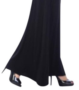 Other Plus Size Curvy Slimming Midi Denim Maxi Skirt Black