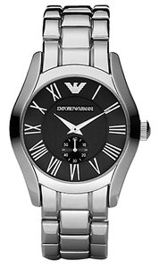 Emporio Armani Armani Black Dial Stainless Steel Bracelet Mens Watch