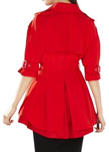 BCBGMAXAZRIA Red Trench Fall Spring Trench Coat