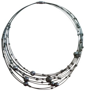 Other Silver Orb Choker Necklace