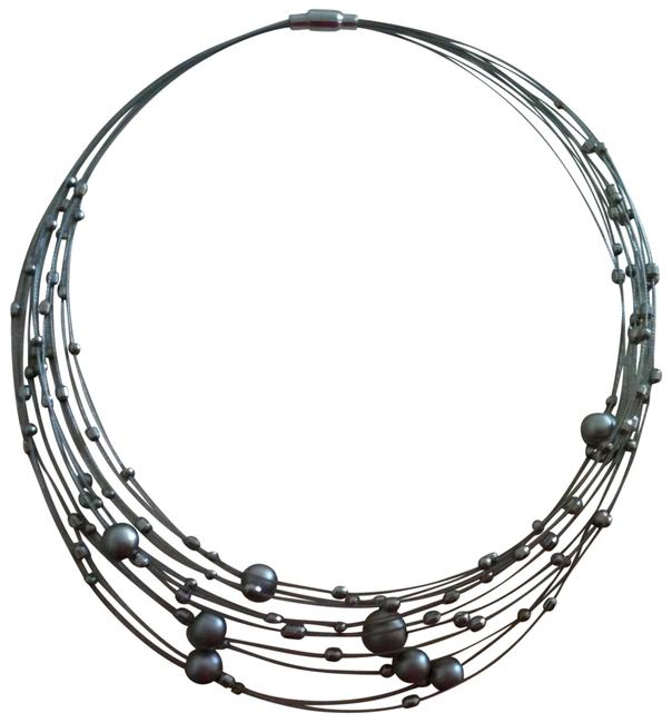 Silver Orb Choker Necklace Silver Orb Choker Necklace Image 1