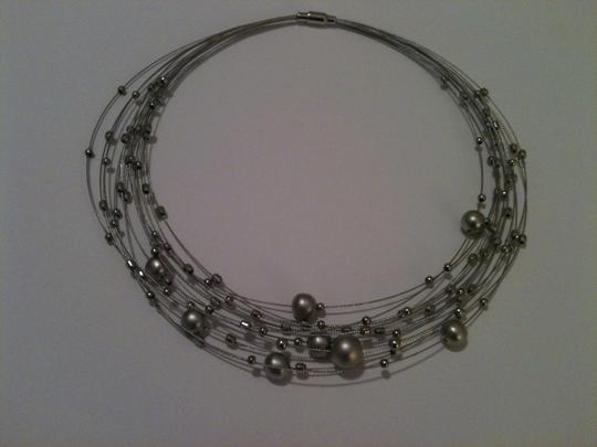 Other Silver Orb Choker Necklace Image 1