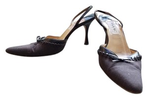 Isaac Mizrahi Slingback Pointed Toe Bow Brown Pumps