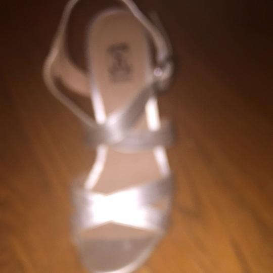 Decree Silver And Taupe Wedges