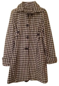 Poetry Wool Houndstooth Long Flash Sale Pea Coat
