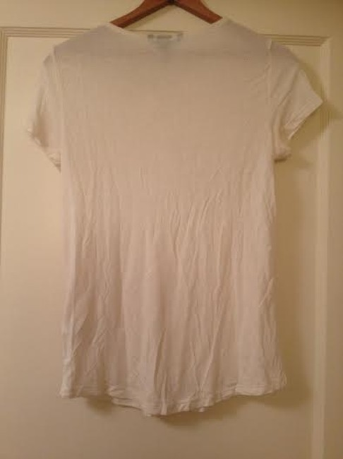 H&M Knotted Soft T Shirt White cream
