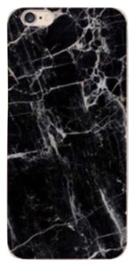 New iPhone 6, 6S Black and White Marble Soft Rubber Cell Phone Phone Case