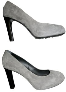 Tod's Suede Heels Grey Pumps