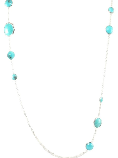 Ippolita Turquoise Candy Sterling Silver Rock Octagon Long Chain Link Necklace Ippolita Turquoise Candy Sterling Silver Rock Octagon Long Chain Link Necklace Image 1