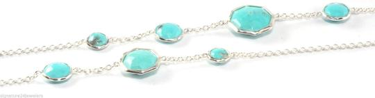 Ippolita Ippolita Sterling Silver Turquoise Rock Candy Octagon Long Chain Link Necklace Image 1
