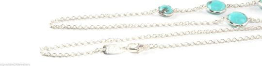 Ippolita Ippolita Sterling Silver Turquoise Rock Candy Octagon Long Chain Link Necklace Image 3